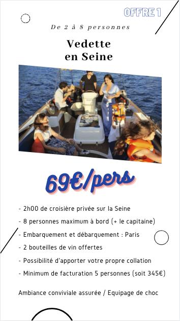 Balade sur la Seine - 10 personnes